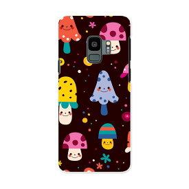SCV38 Galaxy S9 ギャラクシー エスナイン au エーユー スマホ カバー ケース スマホケース スマホカバー PC ハードケース 008357 カラフル 模様 きのこ 水玉