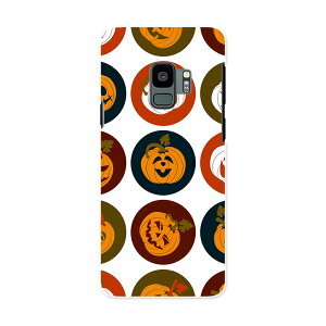 SCV38 Galaxy S9 ギャラクシー エスナイン au エーユー スマホ カバー ケース スマホケース スマホカバー PC ハードケース 008538 かぼちゃ アイコン 赤 レッド 模様