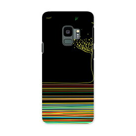 SC-02K Galaxy S9 ギャラクシー エスナイン docomo sc02k ドコモ スマホ カバー ケース スマホケース スマホカバー PC ハードケース 008740 黒 ブラック 花 フラワー