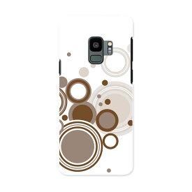 SC-02K Galaxy S9 ギャラクシー エスナイン docomo sc02k ドコモ スマホ カバー ケース スマホケース スマホカバー PC ハードケース 008942 丸 水玉 白 ホワイト シンプル
