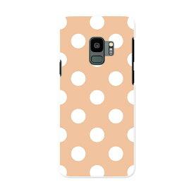 SCV38 Galaxy S9 ギャラクシー エスナイン au エーユー スマホ カバー ケース スマホケース スマホカバー PC ハードケース 009075 シンプル 水玉 ドット オレンジ