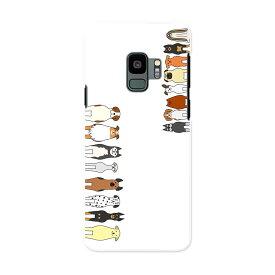 SCV38 Galaxy S9 ギャラクシー エスナイン au エーユー スマホ カバー ケース スマホケース スマホカバー PC ハードケース 010298 動物 犬 キャラクター