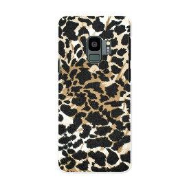 SCV38 Galaxy S9 ギャラクシー エスナイン au エーユー スマホ カバー ケース スマホケース スマホカバー PC ハードケース 011561 ブラウン アニマル柄 動物