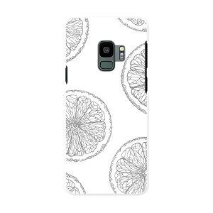 SCV38 Galaxy S9 ギャラクシー エスナイン au エーユー スマホ カバー ケース スマホケース スマホカバー PC ハードケース 012533 レモン 果物 グレー