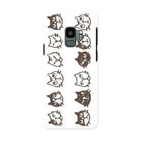 SCV38 Galaxy S9 ギャラクシー エスナイン au エーユー スマホ カバー ケース スマホケース スマホカバー PC ハードケース 013991 猫 動物 アニマル