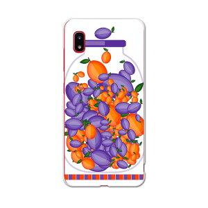SCV46 Galaxy A20 ギャラクシー エートゥエンティ scv46 au エーユー スマホ カバー ケース スマホケース スマホカバー PC ハードケース 009175 果物 オレンジ 紫