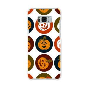 SCV35 Galaxy S8+ ギャラクシー エス エイト プラス au エーユー スマホ カバー ハード pc ケース ハードケース かぼちゃ アイコン 赤 レッド 模様 ユニーク 008538