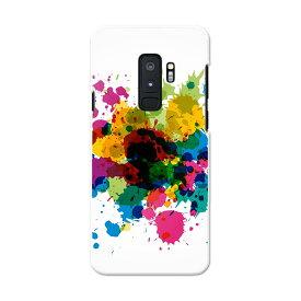 SC-03K Galaxy S9+ ギャラクシー エスナインプラス docomo sc03k ドコモ スマホ カバー スマホケース スマホカバー PC ハードケース 006081 絵の具 カラフル インク