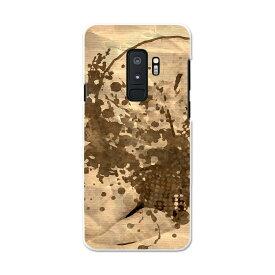SCV39 Galaxy S9+ ギャラクシー エスナインプラス au エーユー スマホ カバー スマホケース スマホカバー PC ハードケース 007441 人物 女性 インク ペンキ