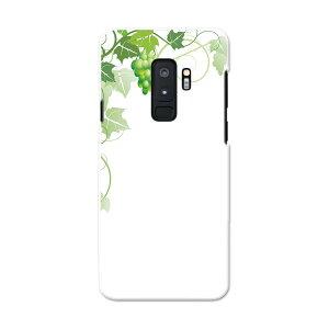 SC-03K Galaxy S9+ ギャラクシー エスナインプラス docomo sc03k ドコモ スマホ カバー スマホケース スマホカバー PC ハードケース 010077 植物 ぶどう 緑