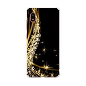 Galaxy A21 SC-42A 専用ハードケース igcase sc42a スマホカバー カバー ケース pc ハードケース 002944 ラグジュアリー シンプル 黒 金