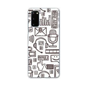 SCG01 Galaxy S20 5G ギャラクシー エストゥエンティ ファイブジー scg01 エーユー au スマホ カバー ケース スマホケース スマホカバー PC ハードケース 008788 白黒 イラスト ラジオ