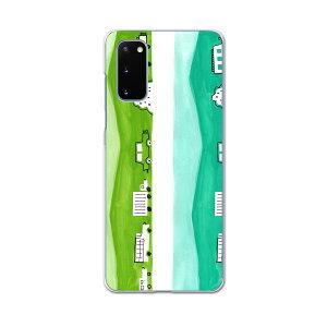 SCG01 Galaxy S20 5G ギャラクシー エストゥエンティ ファイブジー scg01 エーユー au スマホ カバー ケース スマホケース スマホカバー PC ハードケース 014210 車 乗り物 緑