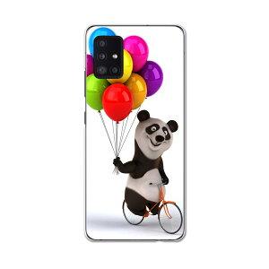 Galaxy A51 5G SC-54A 専用ハードケース igcase SC54A docom ドコモ ギャラクシー スマホカバー カバー ケース pc ハードケース 008702 アニマル パンダ 風船 カラフル キャラクター