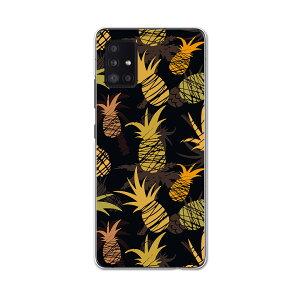 Galaxy A51 5G 専用ハードケース igcase SCG07 au スマホカバー カバー ケース pc ハードケース 012150 パイナップル 黒 夏