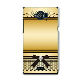 SH-02G Disney Mobile ディズニーモバイル docomo ドコモ sh02g スマホ カバー ケース スマホケース スマホカバー TPU ソフトケース 005049 ゴールド リボン ガーリー