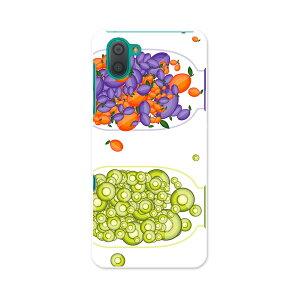 808SH AQUOS R3 アクオス アールスリー 808sh softbank ソフトバンク スマホ カバー ケース スマホケース スマホカバー PC ハードケース  009176 カラフル 果物 オレンジ 緑