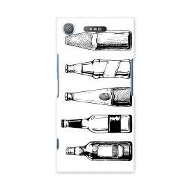 SO-01K XPERIA XZ1 エクスペリア XZ1 docomo ドコモ スマホ カバー スマホケース スマホカバー PC ハードケース お酒 おしゃれ モノクロ 010201