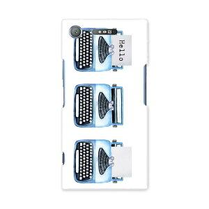 SOV36 XPERIA XZ1 エクスペリア XZ1 sov36 au エーユー スマホ カバー ケース スマホケース スマホカバー PC ハードケース 015913 タイピングライター レトロ