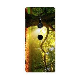 801SO Xperia XZ3 エクスペリア エックスゼットスリー 801so softbank スマホ カバー ケース スマホケース スマホカバー PC ハードケース 014991 景色 自然 風景 写真 木 樹木