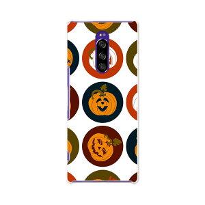 802SO Xperia 1 エクスペリア ワン softbank ソフトバンク 802so スマホ カバー ケース スマホケース スマホカバー PC ハードケース 008538 かぼちゃ アイコン 赤 レッド 模様