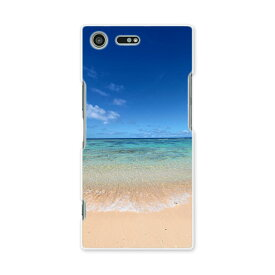 SO-04J Xperia XZ Premium エクスペリア XZ プレミアム so04j docomo ドコモ スマホ カバー スマホケース スマホカバー PC ハードケース 海 青空 砂浜 写真・風景 001605