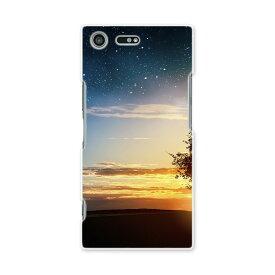 SO-04J Xperia XZ Premium エクスペリア XZ プレミアム so04j docomo ドコモ スマホ カバー スマホケース スマホカバー PC ハードケース 写真 夕日 夜 星 写真・風景 007486
