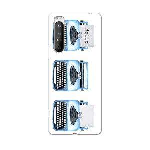 Xperia 1 II SOG01 エクスペリアワンマークツー sog01 au エーユー スマホ カバー ケース スマホケース スマホカバー PC ハードケース 015913 タイピングライター レトロ