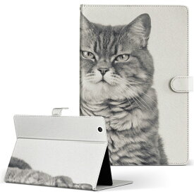 Huawei d-01J dtab Compact ディータブコンパクト d01jdtabct Mサイズ 手帳型 タブレットケース カバー レザー フリップ ダイアリー 二つ折り 革 アニマル 猫 動物 写真 002901