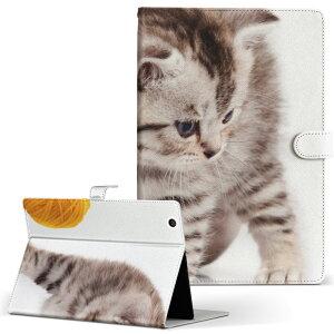 SOT21 Xperia Tablet Z2 エクスペリアタブレット sot21 LLサイズ 手帳型 タブレットケース カバー レザー フリップ ダイアリー 二つ折り 革 写真・風景 写真 ネコ ねこ 006228