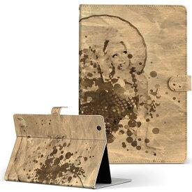 d-02H Huawei dtab Compact ディータブコンパクト d02H Mサイズ 手帳型 タブレットケース カバー レザー フリップ ダイアリー 二つ折り 革 その他 人物 女性 インク ペンキ 007441