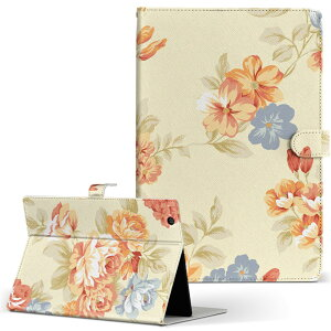 SOT21 Xperia Tablet Z2 エクスペリアタブレット sot21 LLサイズ 手帳型 タブレットケース カバー レザー フリップ ダイアリー 二つ折り 革 フラワー 花 フラワー イエロー 水色 ピンク 007762