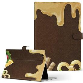 ASUS エイスース・アスース TransBook トランスブック t90chi3775 Lサイズ 手帳型 タブレットケース カバー フリップ ダイアリー 二つ折り 革 ユニーク イラスト お菓子 スイーツ ハート 008322