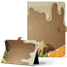 DELL Latitude 10 デル latitude10 LLサイズ 手帳型 タブレットケース カバー レザー フリップ ダイアリー 二つ折り 革 008323 イラスト お菓子 スイーツ 星 スター