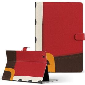 DELL Latitude 10 デル latitude10 LLサイズ 手帳型 タブレットケース カバー レザー フリップ ダイアリー 二つ折り 革 008628 サンタ 服 赤 レッド