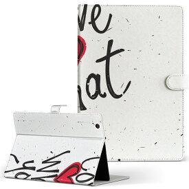 DELL Latitude 10 デル latitude10 LLサイズ 手帳型 タブレットケース カバー レザー フリップ ダイアリー 二つ折り 革 008634 英語 文字 ハート