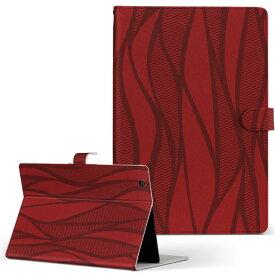 DELL Latitude 10 デル latitude10 LLサイズ 手帳型 タブレットケース カバー レザー フリップ ダイアリー 二つ折り 革 008759 赤 レッド 模様