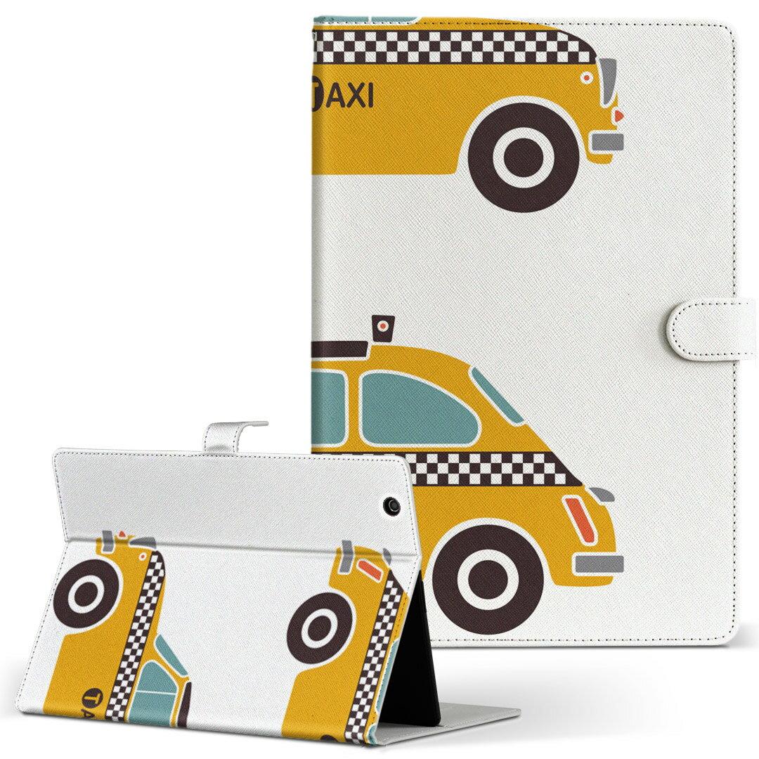 dtab Compact d-02K ディータブコンパクト D02K Mサイズ 手帳型 タブレットケース カバー レザー フリップ ダイアリー 二つ折り 革 011046 車 タクシー 乗り物