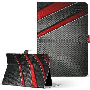 SO-03E Xperia Tablet Z エクスペリアタブレット so03e LLサイズ 手帳型 タブレットケース カバー レザー フリップ ダイアリー 二つ折り 革 013267 黒 赤 かっこいい