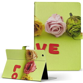 DELL Latitude 10 デル latitude10 LLサイズ 手帳型 タブレットケース カバー レザー フリップ ダイアリー 二つ折り 革 008762 花 フラワー 写真