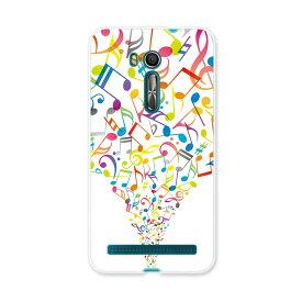 ZenFone Go ZB551KL ASUS zb551kl simfree SIMフリー スマホ カバー スマホケース スマホカバー PC ハードケース 音符 カラフル その他 ユニーク 000932