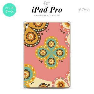 メール便送料無料 iPad Pro 9.7 アイパッド プロ9.7 タブレットケース iPad Pro 9.7 ハードケース 背面カバー アイパッド プロ エスニック花柄 ピンク×ベージュ nk-ipadpro-1582【メール便送料無料】