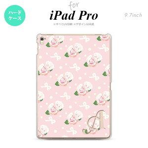 メール便送料無料 iPad Pro 9.7 アイパッド プロ9.7 タブレットケース iPad Pro 9.7 ハードケース 背面カバー アイパッド プロ イニシャル 花柄・バラ(G) ピンク nk-ipadpro-256ini【メール便送料無料】