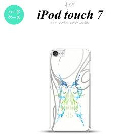 iPod touch 第7世代 ケース 第6世代 ハードケース ピンスト 白 ブルー グリーン nk-ipod7-1245