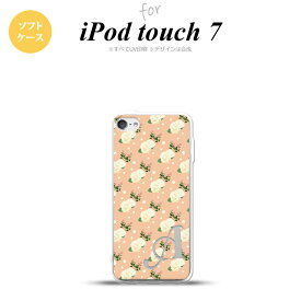 iPod touch 第7世代 ケース 第6世代 ソフトケース 花柄 バラ ドット ライトサーモン +アルファベット nk-ipod7-tp245i