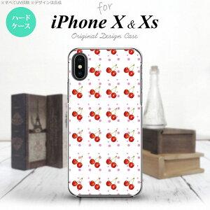 【iPhoneX】【スマホケース/スマホカバー】【アイフォンX】iPhoneX スマホケース カバー アイフォンX さくらんぼ・チェリー 白 nk-ipx-179【メール便送料無料】