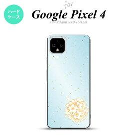 Google Pixel 4 ケース ハードケース 和柄 サクラ 青 nk-px4-1275