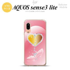 AQUOS sense3/sense3 lite SH-02M SHV45 SH-RM12 ケース ソフトケース ハート ガラスの靴 ピンク メンズ レディース キッズ ストラップホール おしゃれ かわいい かっこいい nk-sen3l-tp237