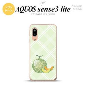 AQUOS sense3/sense3 lite SH-02M SHV45 SH-RM12 ケース ソフトケース フルーツ メロン 緑 メンズ レディース キッズ ストラップホール おしゃれ かわいい かっこいい nk-sen3l-tp658