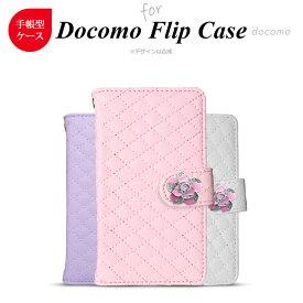 docomo スマホケース iPhone11 Pro SO-02L F-01L SC-03L 他 手帳型 ホワイト/ピンク/パープル バラ(ピンク)